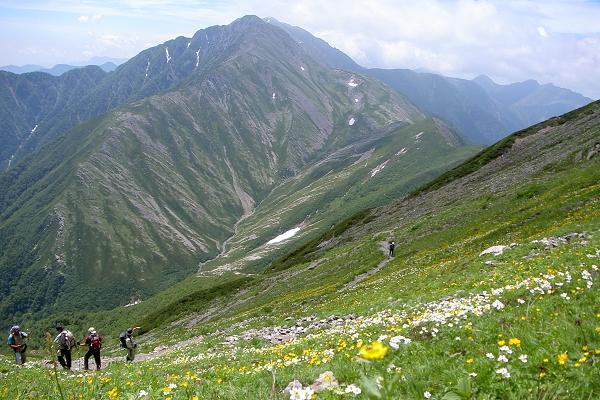 南アルプスの主峰「赤石岳」