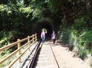 井川湖畔遊歩道(廃線小路)