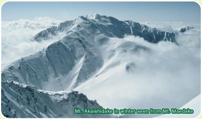 Winter Akaishidake (only as for Akaishi) which looked at zentake