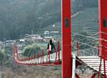 恐高症克服旅游!! 在安倍奥吊桥巡游的&温泉的旅途