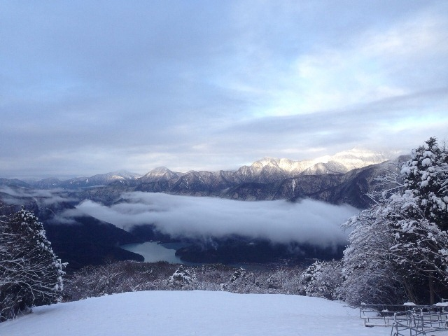 从ribaueru井川滑雪场希望井川湖方面的②20131219-2.jpg