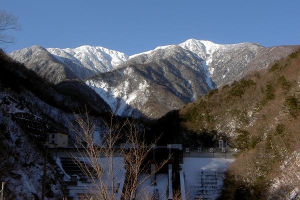 南アルプスの主な山「上河内岳」