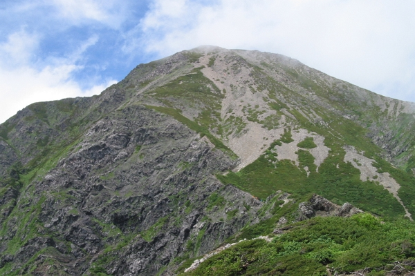 南アルプスの主な山「聖岳」